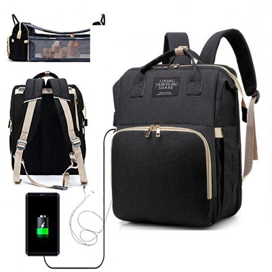 Сумка рюкзак кроватка для мам 3 в 1 Living Traveling Share R053 Baby Travel Bed-Bag Black Черный
