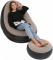 Надувной диван с пуфом Air Sofa SF-936, надувное велюровое кресло с пуфиком