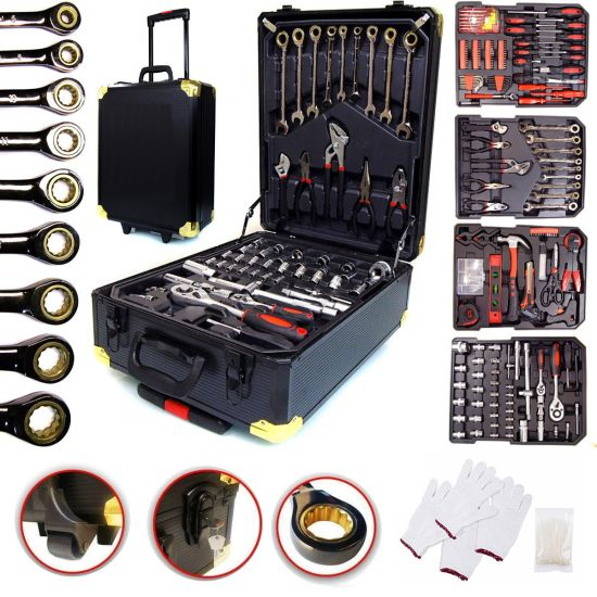 Большой автомобильный набор инструментов Rainberg RB-0001 из 399 предметов в чемодане с трещеткой