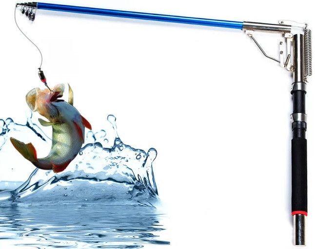 Самоподсекающая удочка Supretto TurboFish 2,7 метра, спиннинг Автоматическая удочка Король рыбалки Fishergoman