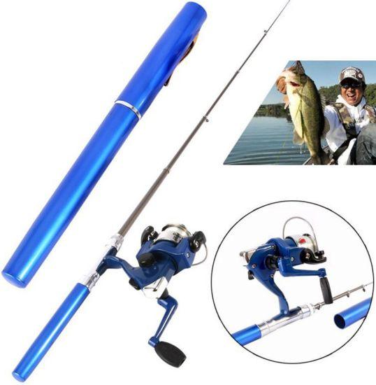 Комплект карманная удочка ручка Mini Pocket Fishing Rod + Катушка, Карманная складная походная мини FishPen