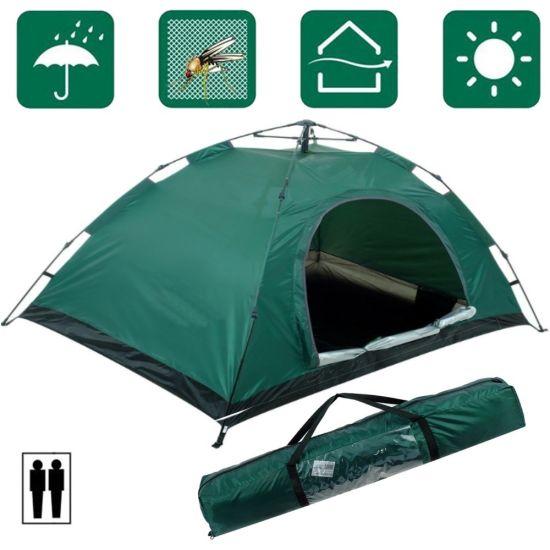 Палатка автоматическая Leomax LX-1202 2-х местная Зеленая 200x150x110 см, туристическая, автомат, двухместная