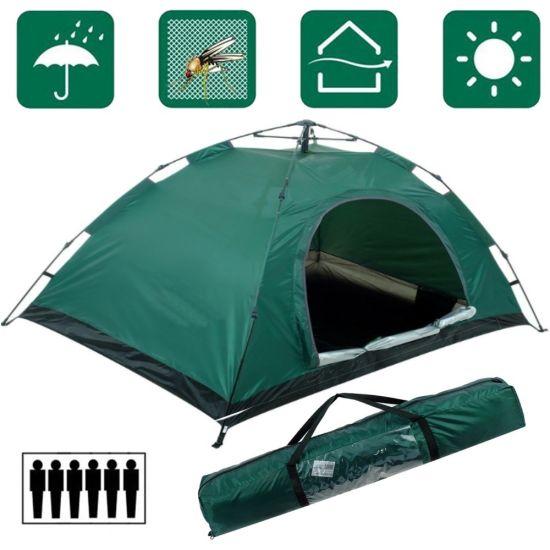 Палатка автоматическая Leomax LX-1602 6-ти местная Зеленая 250x200x150 см туристическая автомат шестиместная