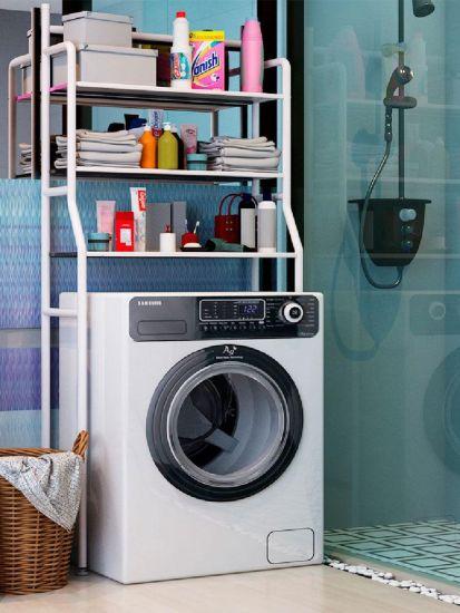 Стойка над стиральной машиной Supretto Washing Rack напольный стеллаж, полка органайзер для хранения, этажерка