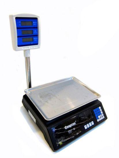 Торговые электронные весы до 50 кг Domotec MS-308 со стойкой