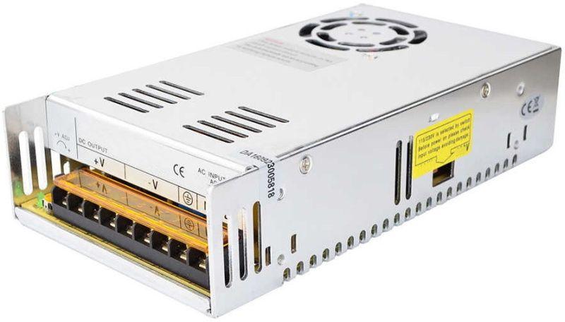 Универсальный блок питания адаптер 12V 30A 360W Brille S-360-12 Metall для SMD светодиодных лент мониторов