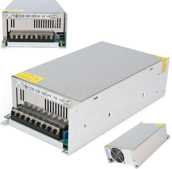 Универсальный блок питания адаптер 12V 50A 600W Brille S-600-12 Metall для SMD светодиодных лент мониторов