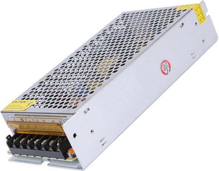 Универсальный блок питания адаптер 12V 15A 180W Brille S-180-12 Metall для SMD светодиодных лент мониторов