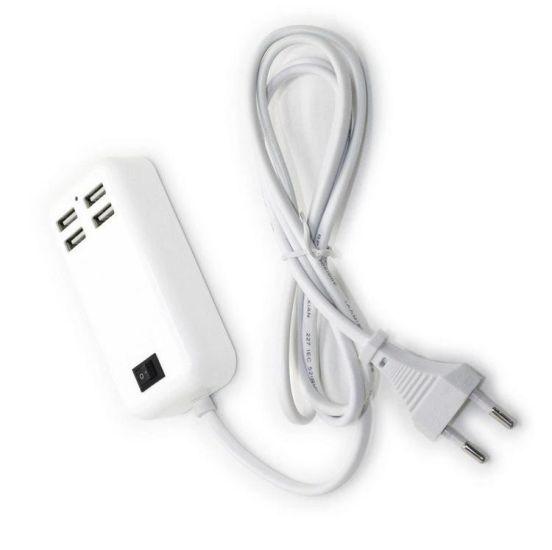 Адаптер питания - зарядное устройство на 4 usb порта от сети 220W