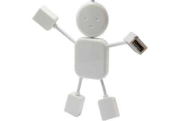 USB хаб Человечек Hi-Speed на 4 порта разветвитель